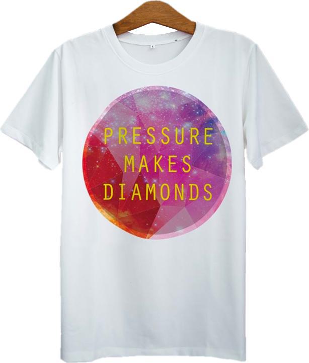 Áo Thun Unisex In Pressure Makes Diamond ASGA038 - Trắng Size S