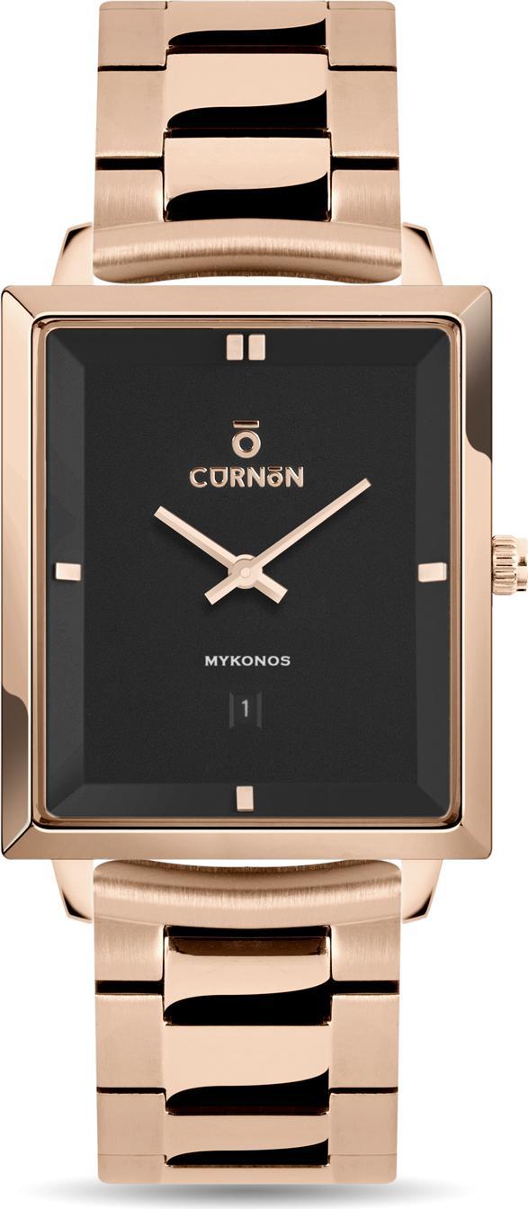 Đồng hồ nam Dây Kim Loại Curnon Mykonos TAD (38x32mm) Mặt Chữ Nhật