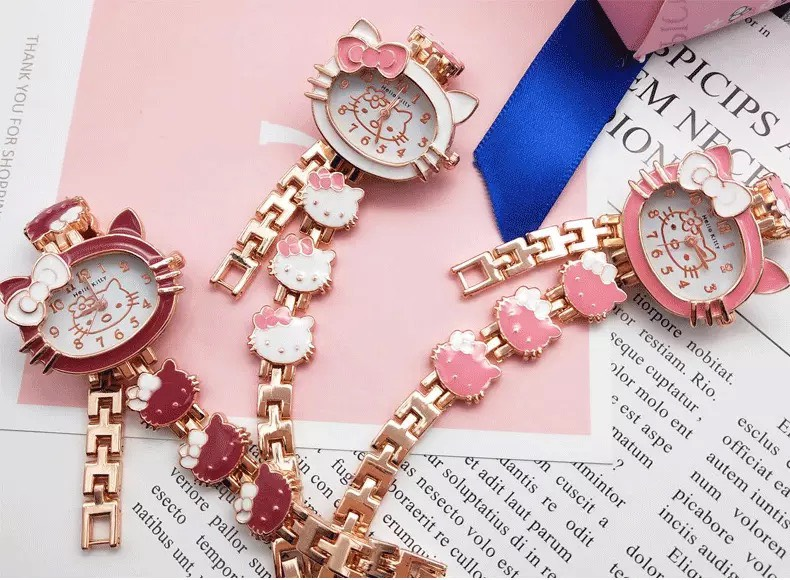 Đồng hồ hello kitty xinh xắn thời trang cho bé gái
