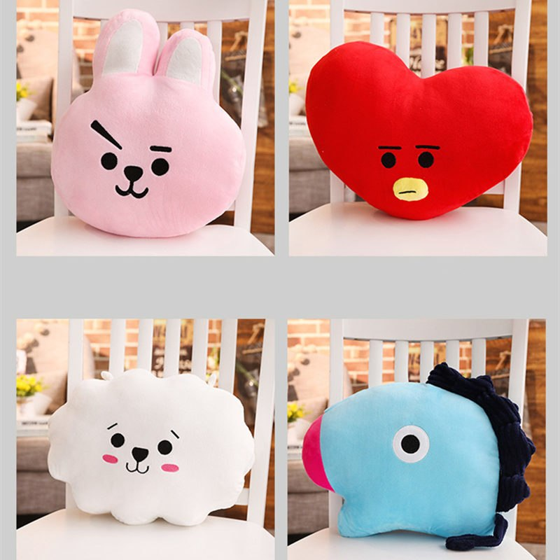 Gối Lưu Niệm Ban Nhạc BTS - Thỏ Cooky (31 x 36 cm)