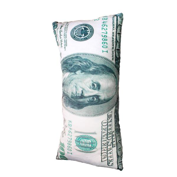 Gối Ôm 3d Tiền 100 Usd (100 Cm) G40 (Tặng 1 Miếng Che Mắt Đi Ngủ Gấu Trúc Panda)