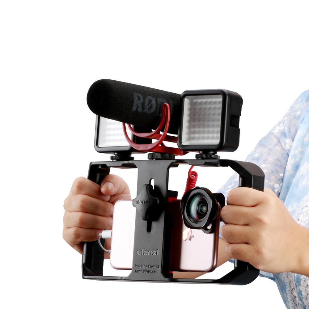 Tay cầm chống rung cho điện thoại Ulanzi U-rig Pro FUBA1 hỗ trợ quay phim , làm vlog - Hàng chính hãng