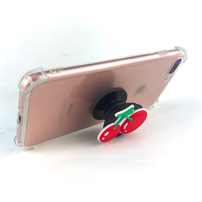 Gía đỡ điện thoại đa năng, tiện lợi - PopSockets - Hình Hoạt hình 3D - Qủa Cherry ngọt ngào- Hàng Chính Hãng
