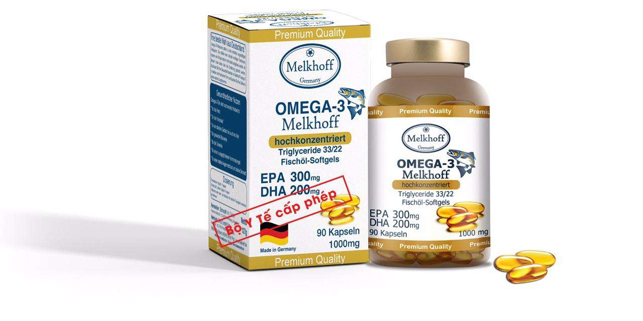 Thực phẩm bảo vệ sức khỏe: OMEGA-3 MELKHOFF