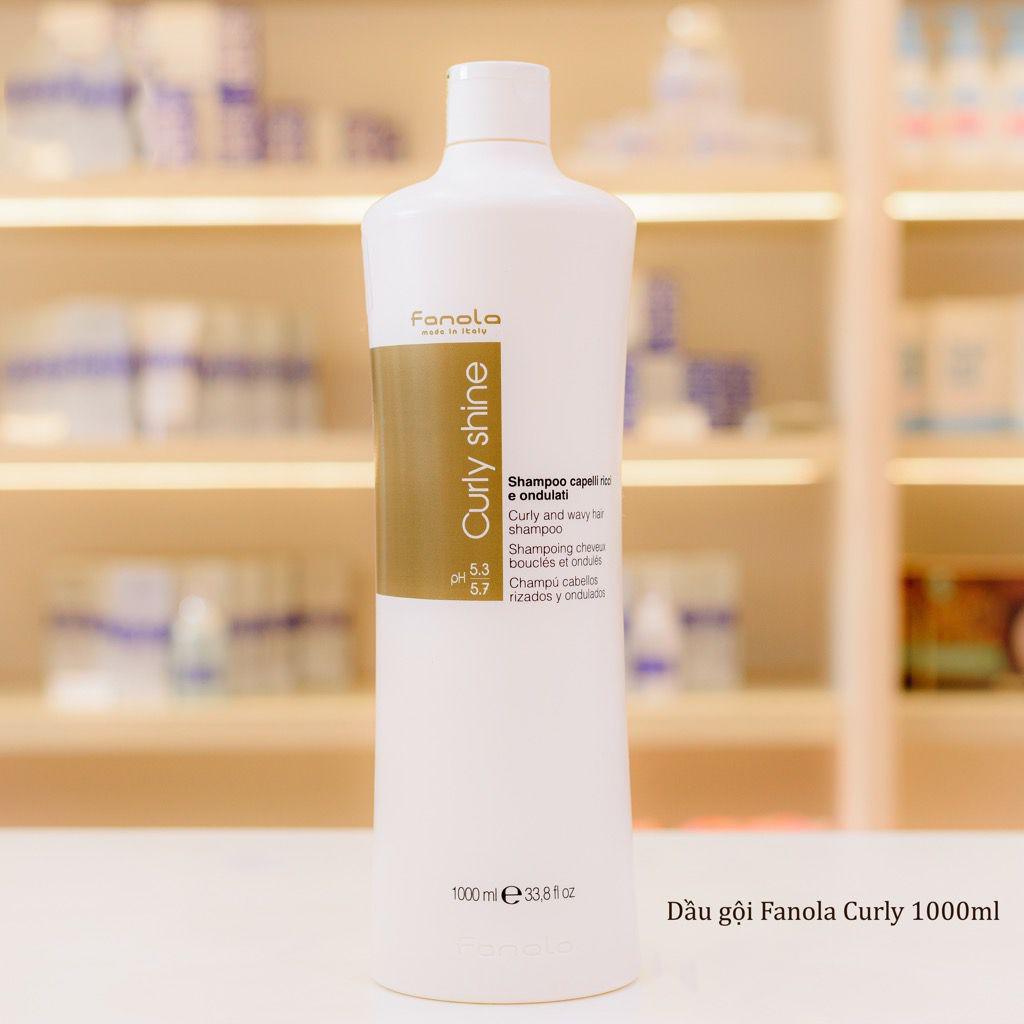 Dầu Gội Dành Cho Tóc Uốn, Tóc Xoăn Fanola Curly Shine Shampoo Italy 1000ml  + Tặng Kèm Băng Đô Rửa Mặt
