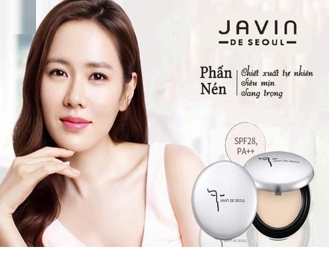 Phấn phủ trang điểm dạng nén siêu mịn, tông trắng hồng tự nhiên #21 Javin De Seoul Hàn quốc 13g/ Hộp - Hàng Chính Hãng