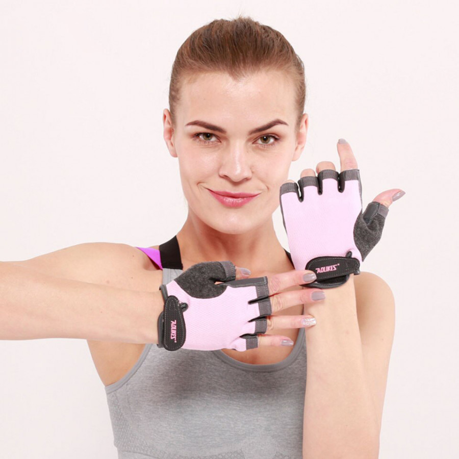 Găng Tay Tập Gym, Tập Thể Hình Cao Cấp Sport Fitness Breathable Gloves AOLIKES YE-112 - Hàng Chính Hãng