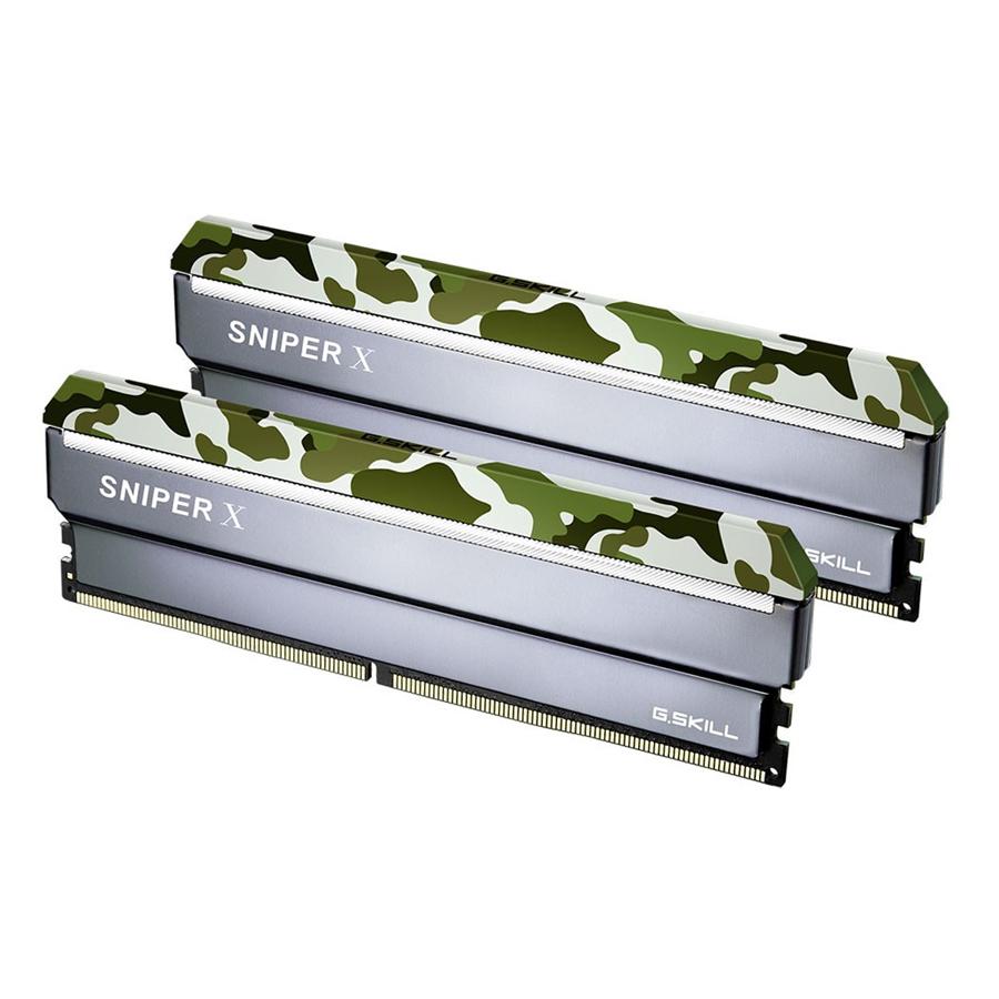 Bộ 2 Thanh RAM PC G.Skill 16GB (8GBx2) Snipper Tản Nhiệt DDR4 F4-2400C17D-16GSXF - Hàng Chính Hãng
