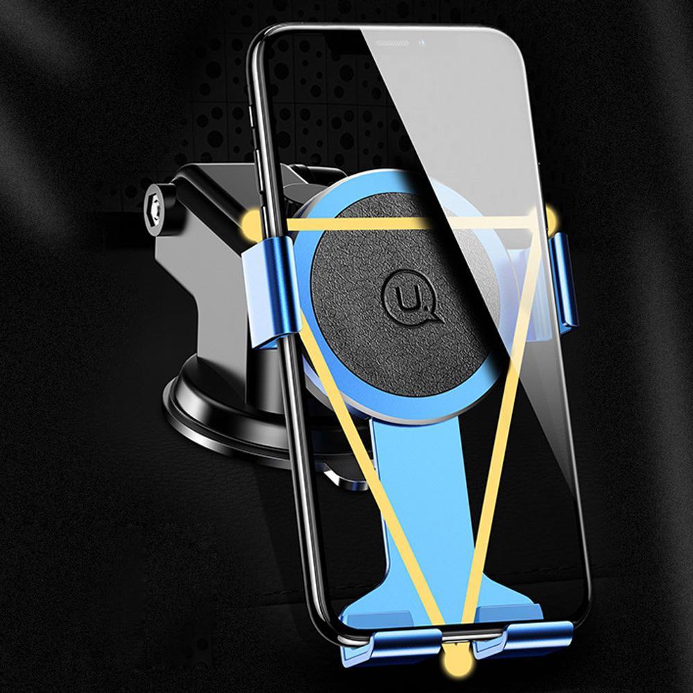 Đế giữ điện thoại USAMS US-ZJ036 trên ô tô - Đen - Hàng Nhập Khẩu