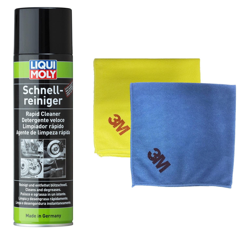 Dung dịch tẩy rửa phanh ô tô Liqui Moly 3318 - Tặng kèm 1 khăn lau chuyên dụng 3M