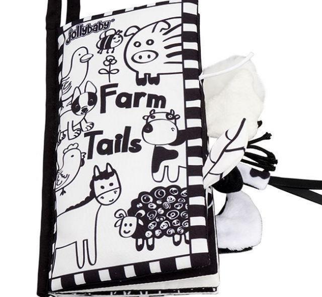 Đồ chơi - Sách vải đuôi đen trắng cho bé sơ sinh từ 0m+