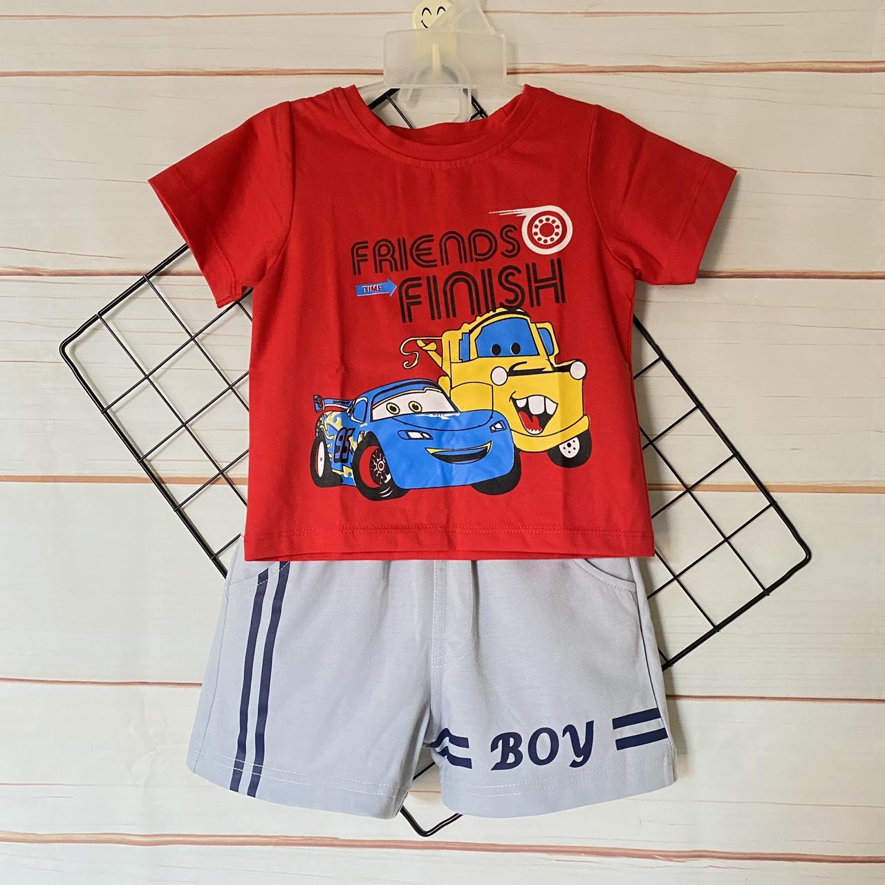 Bộ quần áo trẻ em   Quần áo bé trai   Mẫu xe đỏ cao cấp   Cho bé từ 8-20kg  Chất vải thun 100% cotton mềm mịn, co giãn 4 chiều