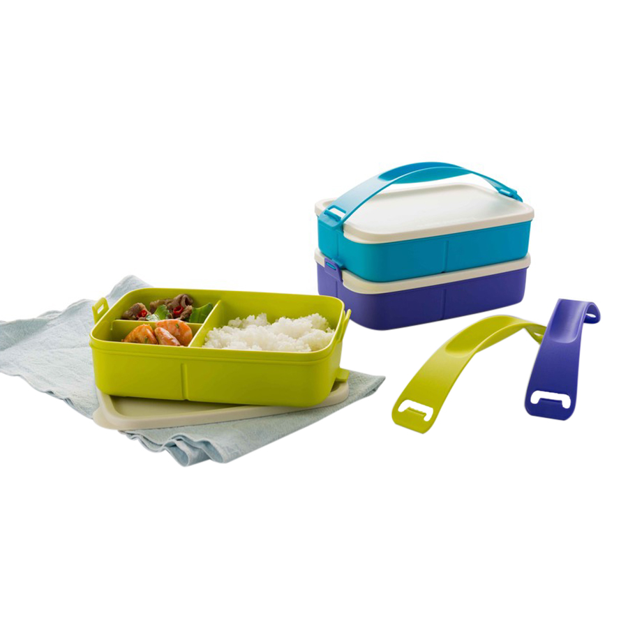 Hộp Cơm 3 Ngăn Tupperware Click To Go 1 Tầng