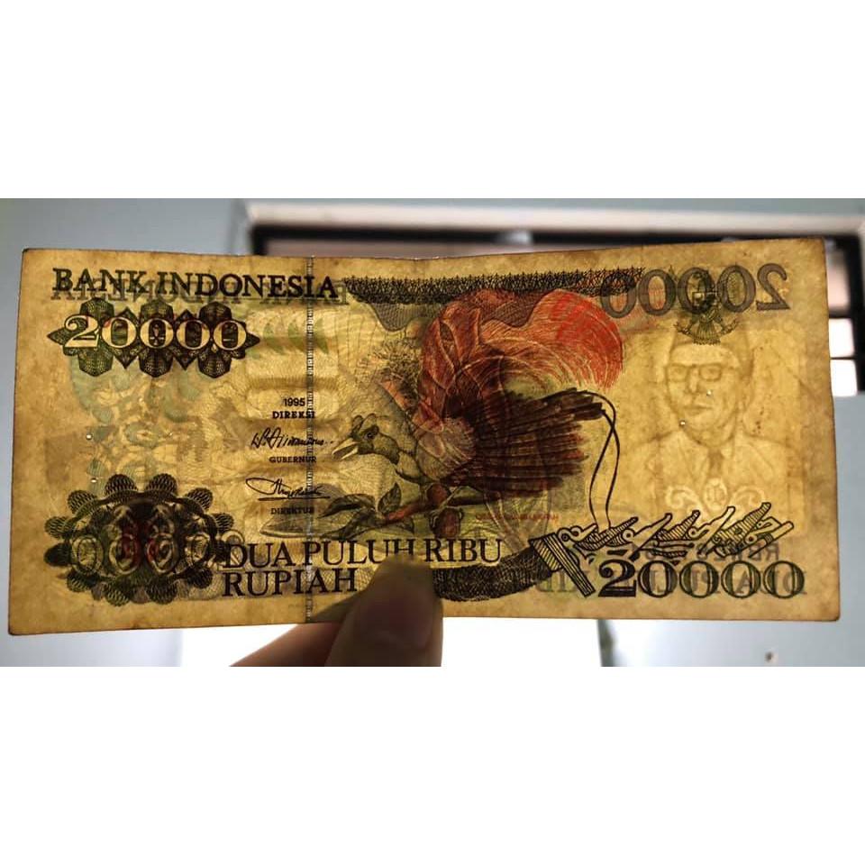 Tiền cổ thế giới, tờ 20000 Rupiah Indonesia 1995 sưu tầm