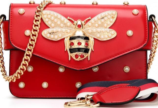 Túi xách đeo chéo nữ gc đính đá cao cấp - đỏ - 23437870 , 4444543690674 , 62_15816303 , 500000 , Tui-xach-deo-cheo-nu-gc-dinh-da-cao-cap-do-62_15816303 , tiki.vn , Túi xách đeo chéo nữ gc đính đá cao cấp - đỏ