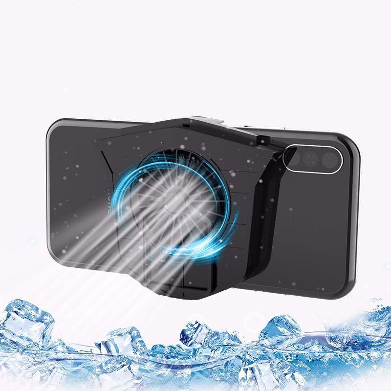 Quạt tản nhiệt gaming tích hợp giá đỡ kèm pin cho điện thoại Aturos M5 - Hàng nhập khẩu