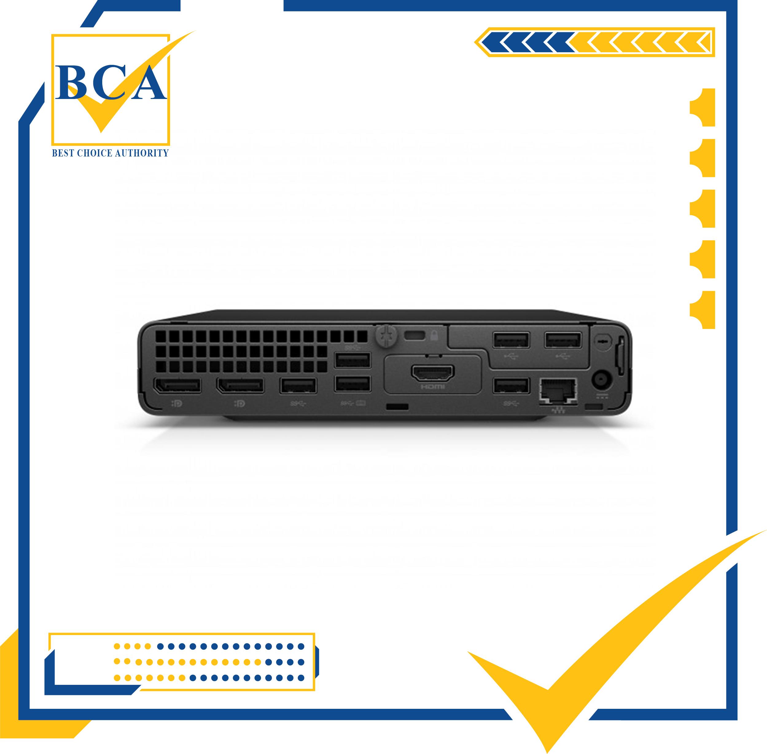 Máy tính để bàn HP ProDesk 400 G6 Desktop Mini/Intel Core i5-10500T/8GB/SSD 256GB/Win 10 Home/BH 1 năm (227J5PA)-Hàng chính hãng