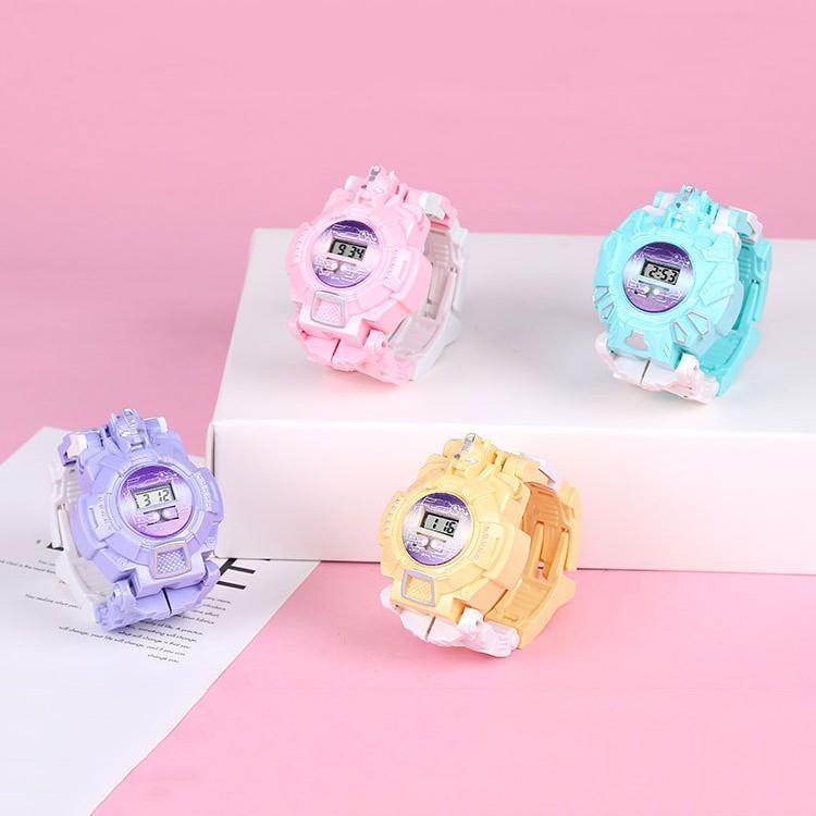 Đồng Hồ Điện Tử Trẻ Em Biến Hình Robot đáng yêu cho bé trai và bé gái