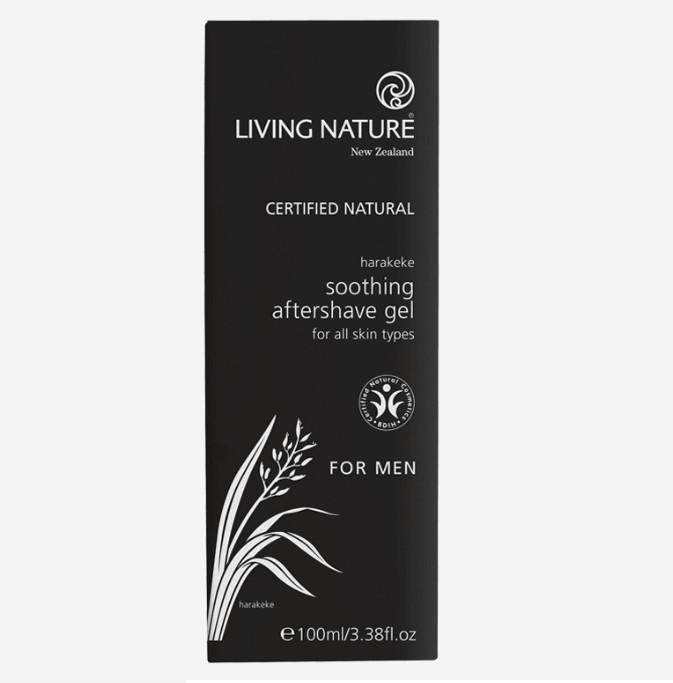 Gel Làm Dịu Da Sau Khi Cạo Râu Living Nature Soothing Aftershave Gel