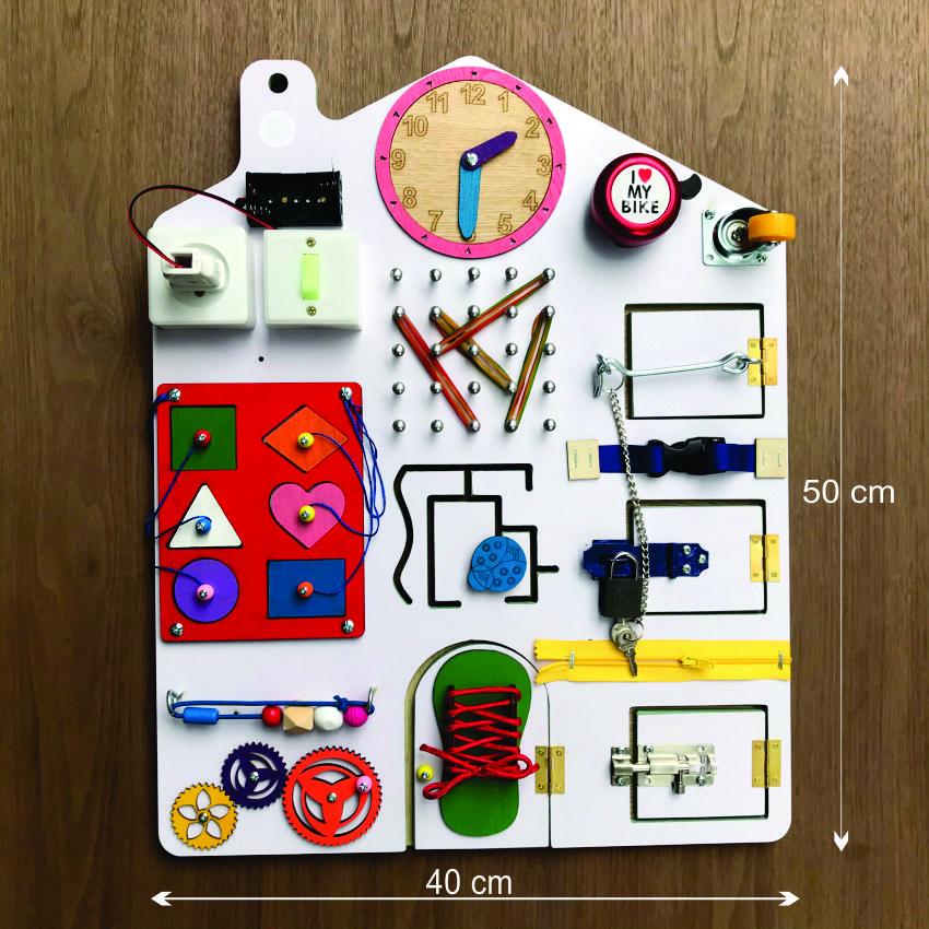 Bảng đồ chơi giáo dục sớm, xếp hình khối bằng gỗ