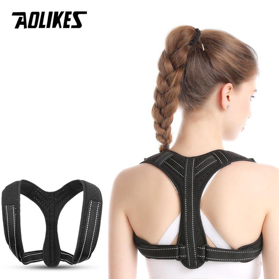 Đai lưng chống gù Nam Nữ AOLIKES YE-3107 Back Posture Corrector - Hàng Chính Hãng