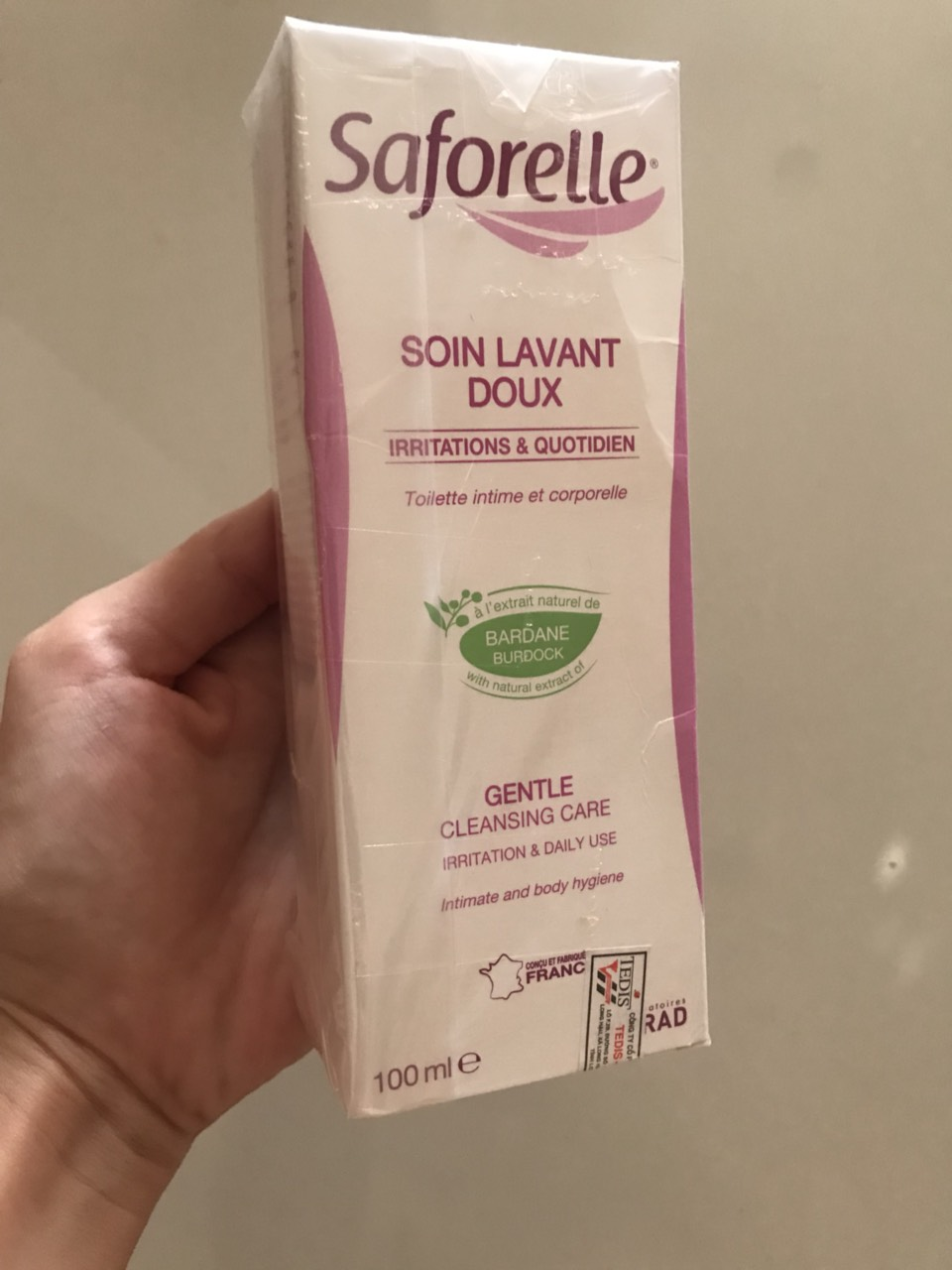 Dung dịch vệ sinh Saforelle Gentle Cleansing Care (100ml)