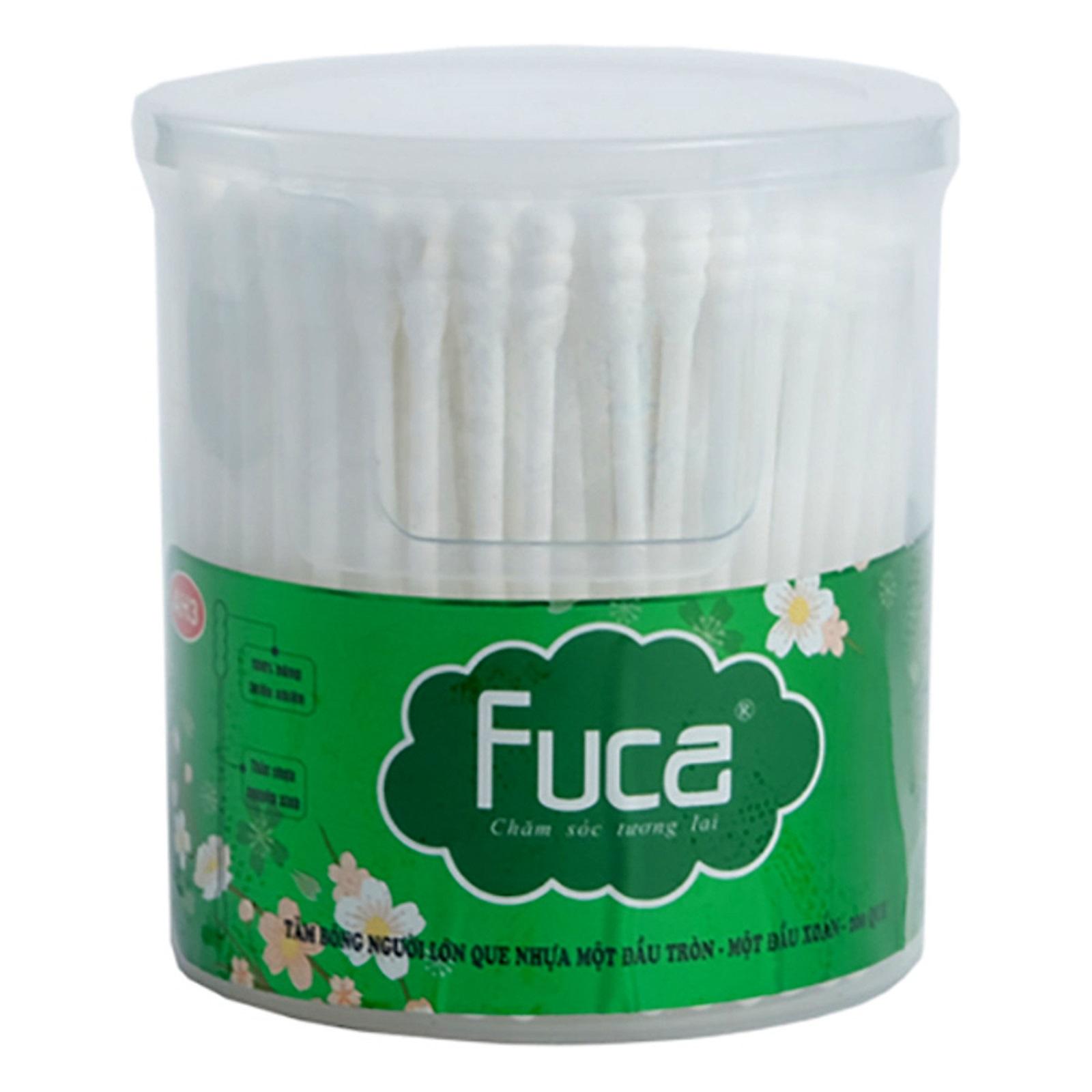 Tăm bông người lớn que nhựa Fuca - AH3 (Hộp 200 que)