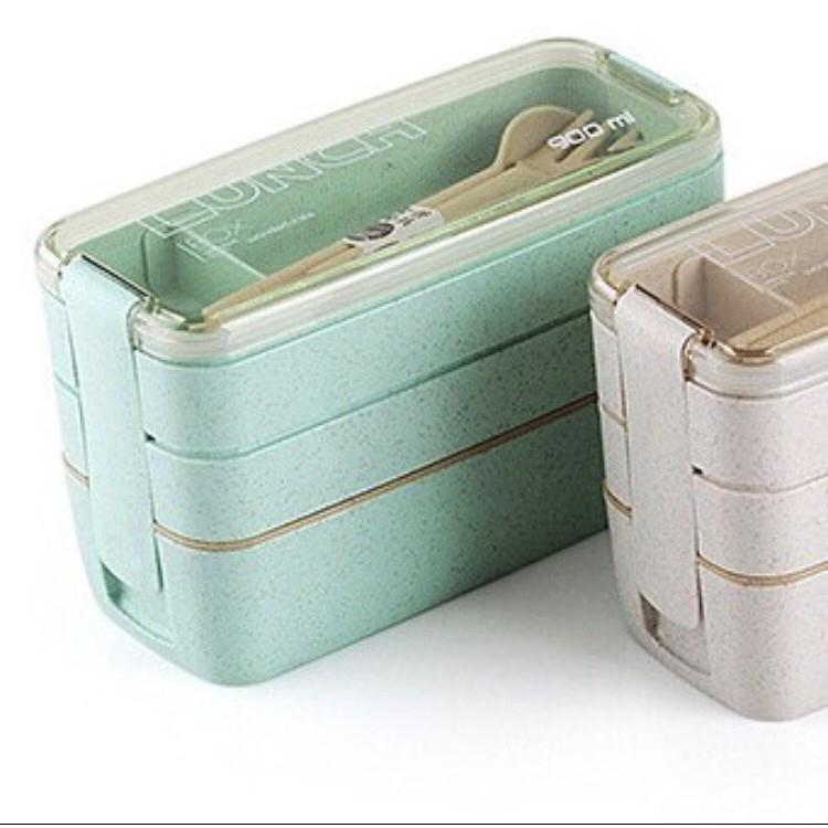 COMBO hộp cơm 3 tầng lúa mạch + hộp canh giữ 320ml nhiệt TẶNG túi giữ nhiệt trị giá 200k