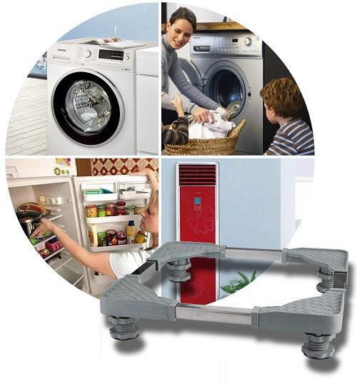 Tấm kê chân máy giặt, tủ lạnh, máy sấy tùy chỉnh theo các kích cỡ khác nhau, 4 chân đế có thể điều chỉnh độ cao thấp