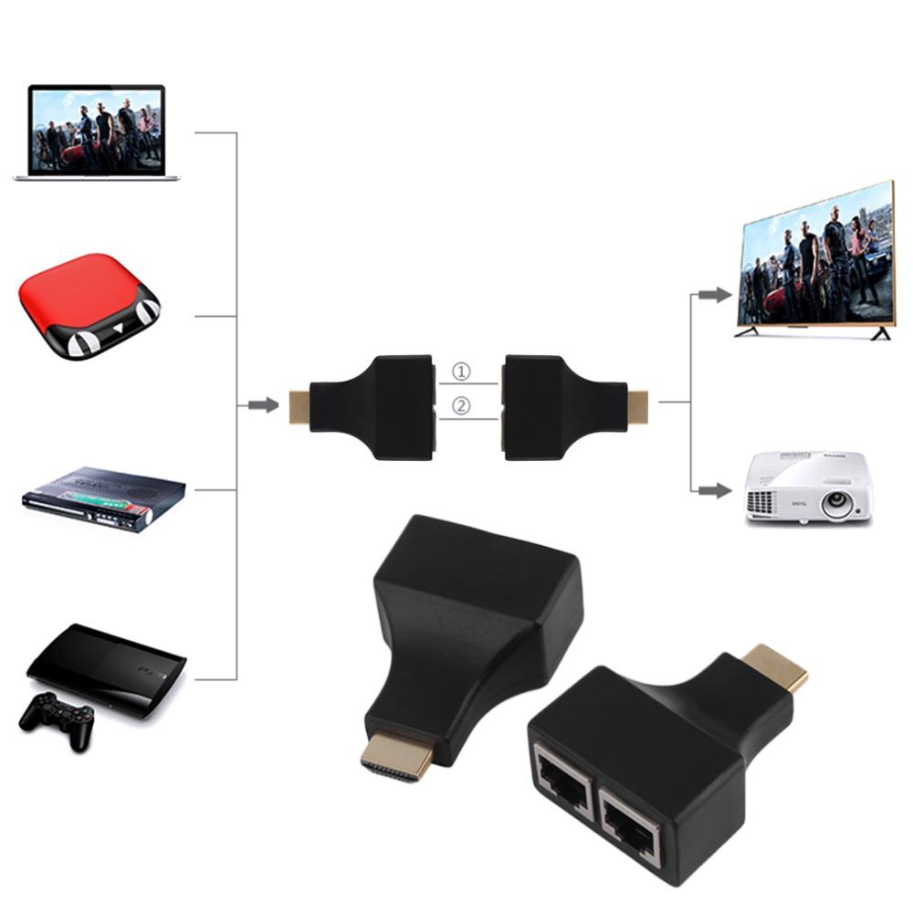 Bộ nối dài HDMI Extender 30m bằng dây lan RJ45 AZONE