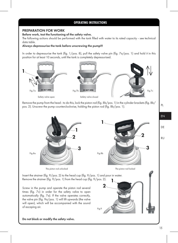 Bình Phun Tạo Bọt Xách Tay/đeo Vai - 6l đung Cho Dung Dịch Trung Tính Xuất Xứ Ba Lan - Hàng Chính Hãng