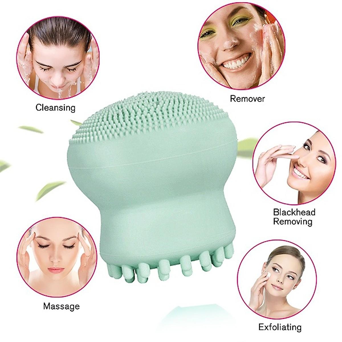 Cọ rửa mặt và Massage Silicon Bạch Tuộc Ngộ nghĩnh