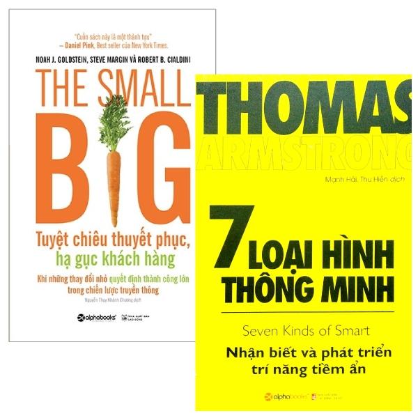 Combo The Small Big – Tuyệt Chiêu Thuyết Phục, Hạ Gục Khách Hàng + 7 Loại Hình Thông Minh (Bộ 2 Cuốn)