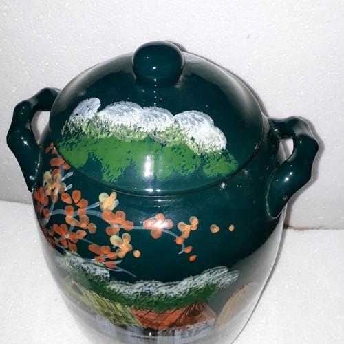 Hũ đựng gạo 15kg men xanh ngọc gốm sứ Bát Tràng