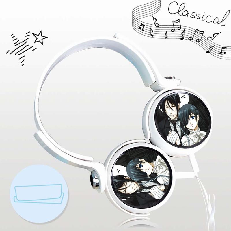 Tai nghe Hắc quản gia anime chibi  thiết kế thông minh cá tính cắm dây có mic