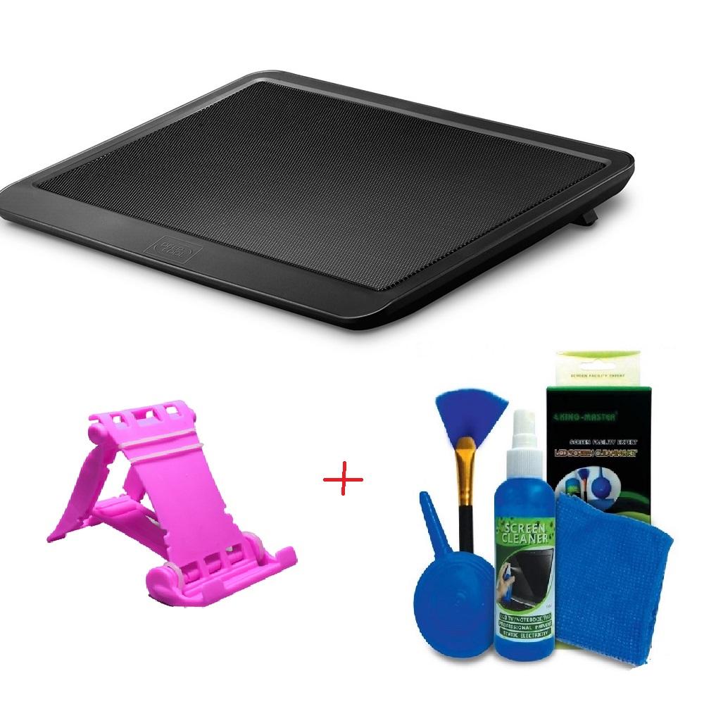 [Tặng bộ vệ sinh 4 món] Đế tản nhiệt Laptop N191 + Gía điện thoại hình ghế Tặng bộ vệ sinh 4 món ( màu ngẫu nhiên)