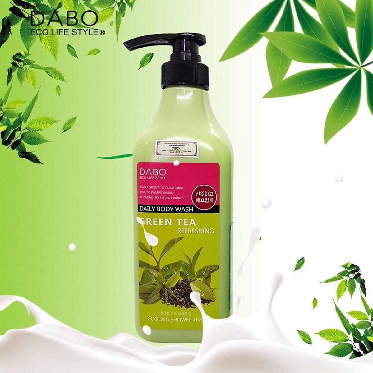 Sữa tắm chiết xuất từ trà xanh mát da ngừa mụn sạch nhờn DABO REFRESHING GREEN TEA DAILY BODY WASH Hàn Quốc Chính Hãng ( 750ml) [ Tặng móc khóa ]