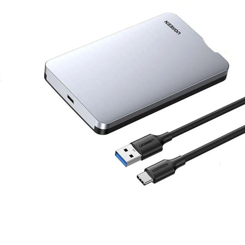 hộp đựng ổ cứng ssd 2.5-inch sata kèm cáp usb a ra usb type c Ugreen 300RC70498CM  hàng chính hãng