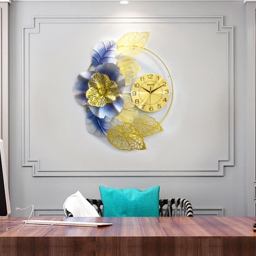 Đồng Hồ Treo Tường Trang Trí Đẹp S-DC225 độc lạ 3d cỡ lớn nghệ thuật phù hợp cho phòng khách, phòng ngủ