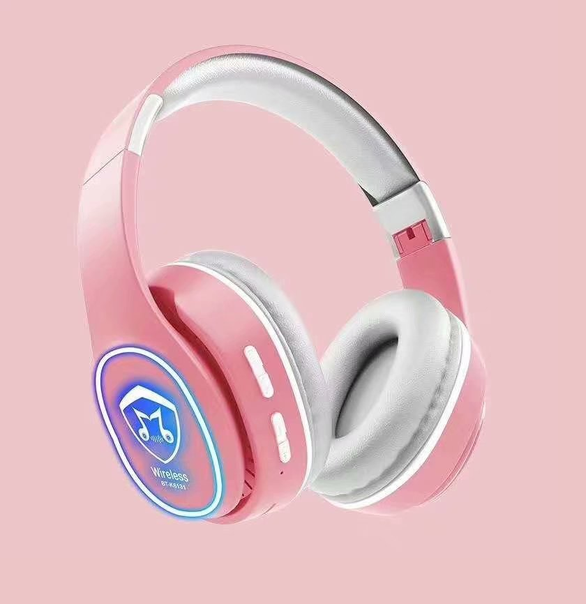 Tai Nghe Chụp Tai Bluetooth HK6131 Công Nghệ Bluetooth Thiết Kế Độc Đáo, Hỗ Trợ Đèn Led Và Đài FM