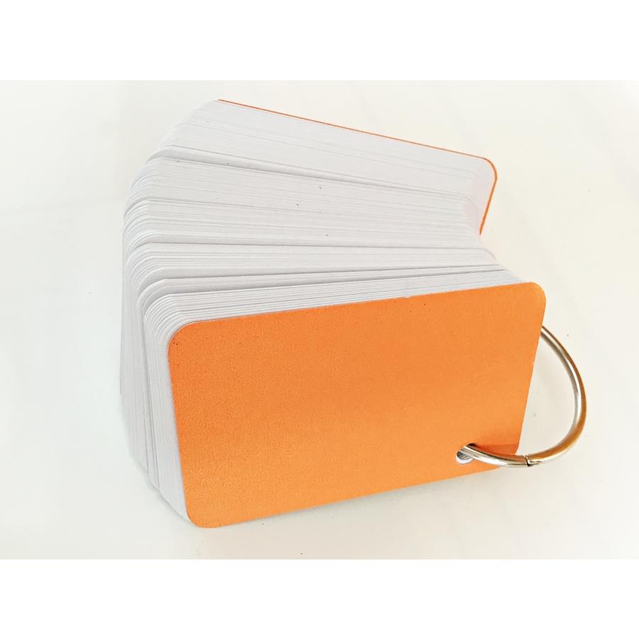 100 thẻ flashcard trắng cao cấp 5x8cm(bo góc) tặng kèm khoen inox +bìa cứng dày học ngoại ngữ