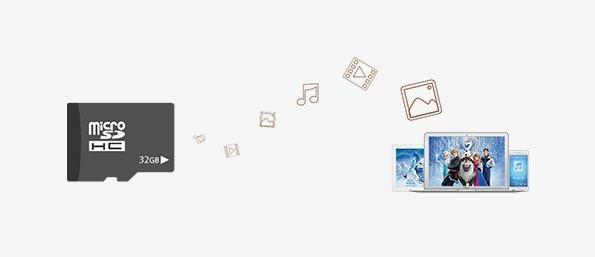 Thiết bị này còn hỗ trợ thẻ nhớ MicroSD dung lượng lên đến 32GB