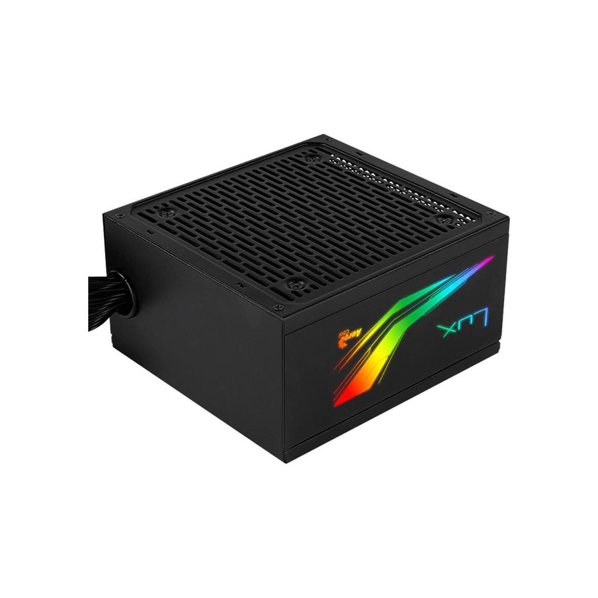 Nguồn máy tính Aerocool LUX RGB 550W - 550W - 80 Plus Bronze- Hàng chính hãng