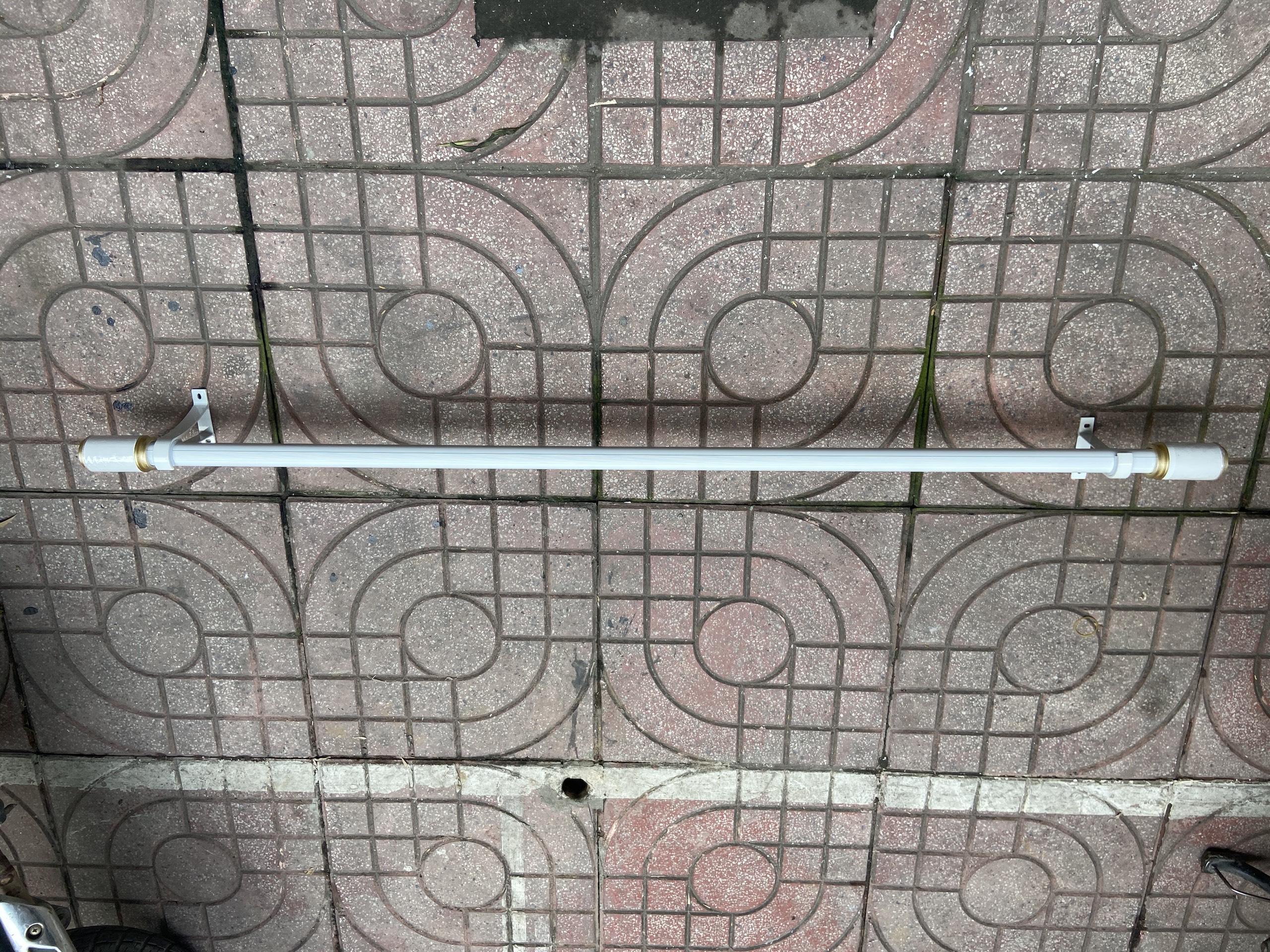 Thanh treo rèm cửa chuyên dụng + Bộ phụ kiện (Tặng kèm ốc vít) - 1.3m - Trắng