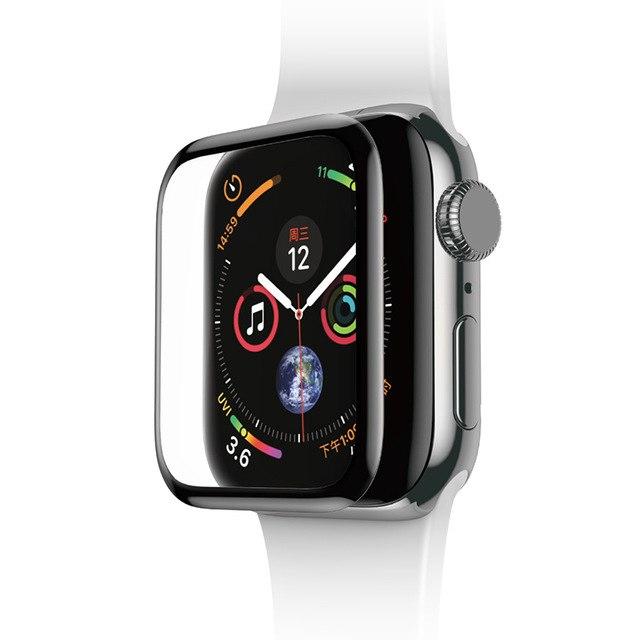 Miếng dán kính cường lực Full 3D BASEUS cho Apple Watch 44mm (Mỏng 0.3mm, Full HD, Vát cạnh 3D, hạn chế vân tay) - Hàng chính hãng