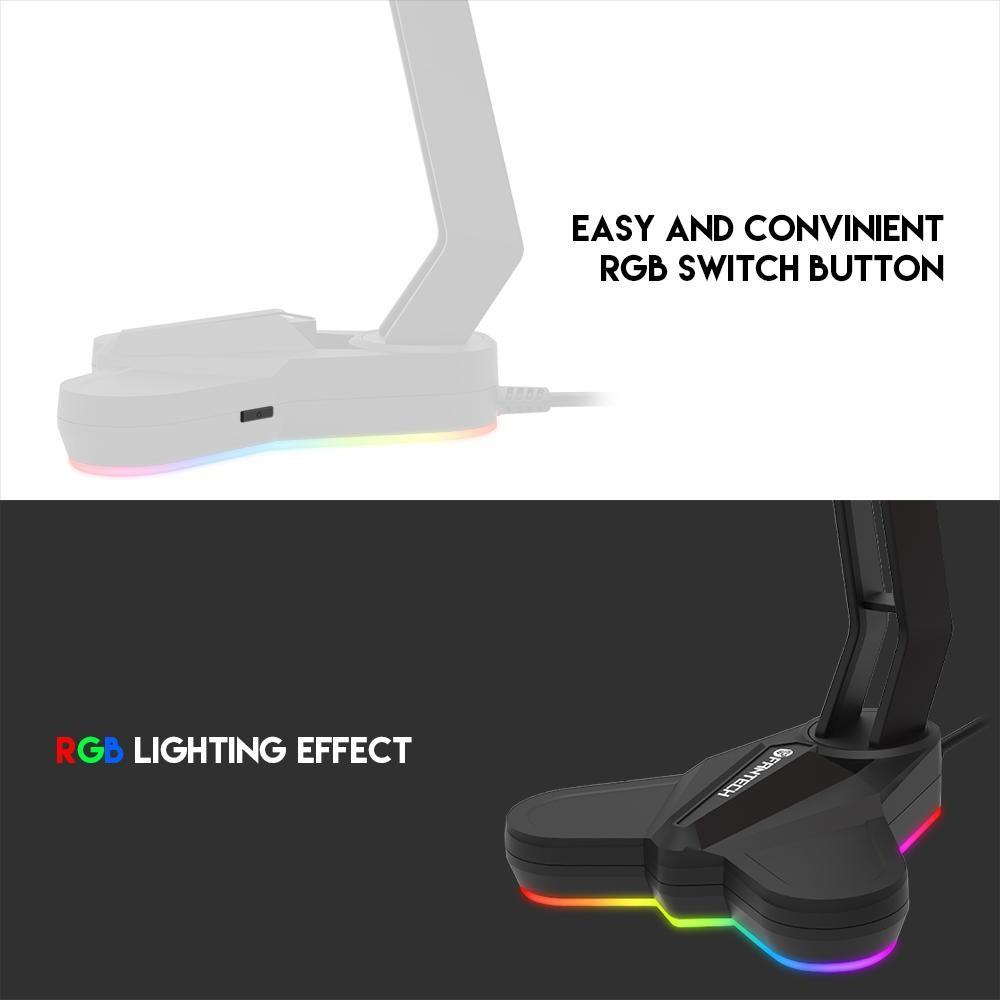 Giá đỡ tai nghe chống trơn trượt và bảo vệ tai nghe chống xước hỗ trợ đèn LED FANTECH AC3001s - Hàng chính hãng