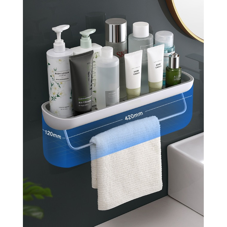 Kệ để đồ nhà tắm hay nhà vệ sinh phòng bếp loại có móc treo E1923A