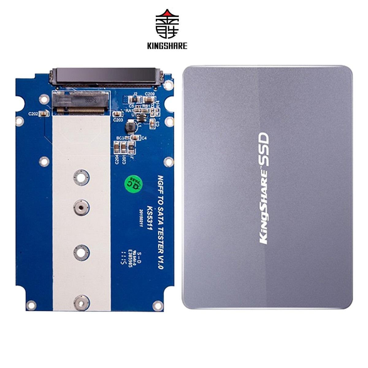 """Box Kingshare Chuyển Đổi SSD M2 SATA sang chuẩn SATA III 2.5"""" (MÀU NGẪU NHIÊN) - Hàng Nhập Khẩu"""