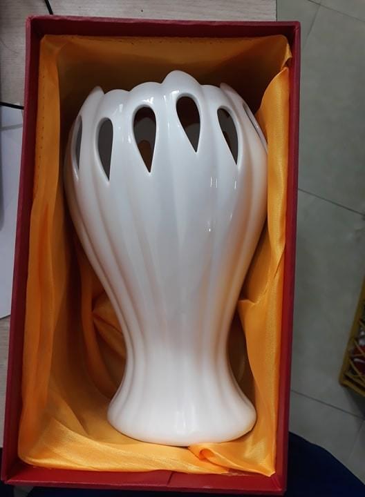 LỌ HOA BÀN TAY PHẬT Gốm sứ Bát Tràng - Lọ trang trí - Bình trang trí - Bình cắm hoa siêu đẹp - 28cm