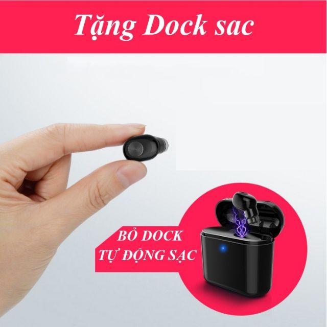 Tai nghe bluetooth BL1 tặng Dock sạc pin 300mah (Đen)